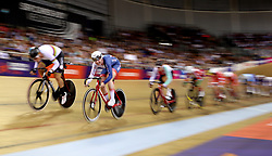 Great Britain's Katie Archibald (second left) competes in the Omnium IV Women - 20Km Points Race during day five of the 2018 European Championships at the Sir Chris Hoy Velodrome, Glasgow.