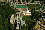 Aerial view Of Johns Hopkins University Hospital outside of Baltimore, MD