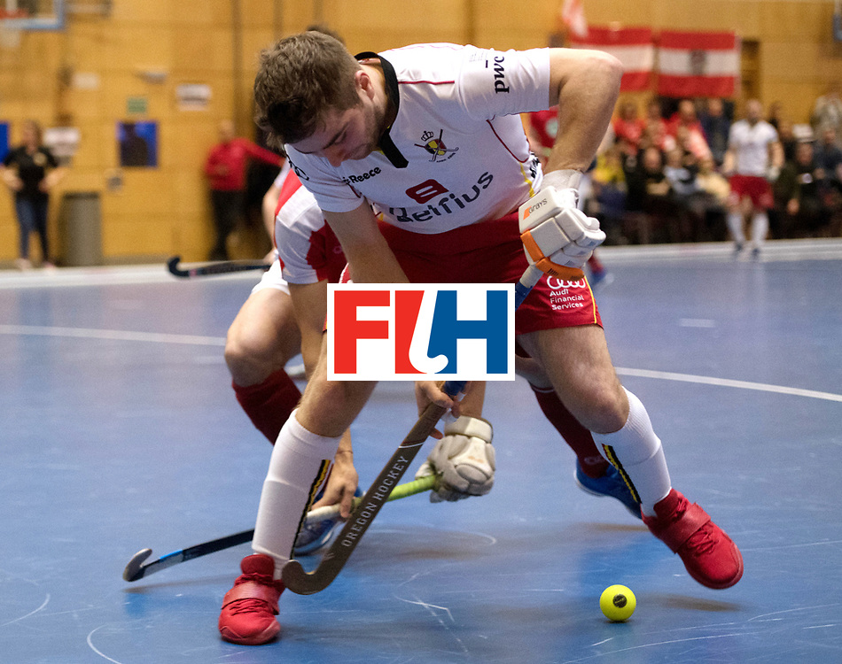 BERLIN - Indoor Hockey World Cup<br /> Austria - Belgium<br /> foto: MARAITE Pierre Louis<br /> WORLDSPORTPICS COPYRIGHT FRANK UIJLENBROEK