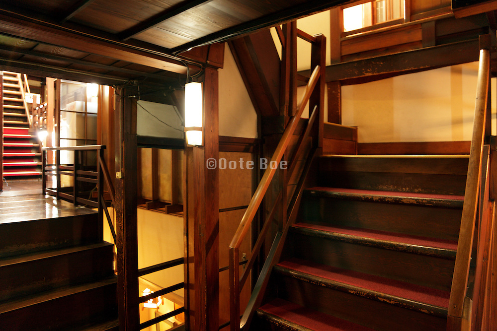 the hall inside a Ryokan , a Japanese style hotel in Nagano