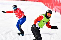 MOEN Kristian, SB-LL1, NOR, ECKHART Rene, AUT, Snowboard Cross at the WPSB_2019 Para Snowboard World Cup, La Molina, Spain