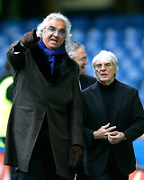 Photo: Tom Dulat.<br /> <br /> Chelsea v Queens Park Rangers. FA Cup Third Round. 05/01/2008. <br /> <br /> Ivestors of Queens Park Rangers Flavio Briatore (L) and Bernie Ecclestone (R).