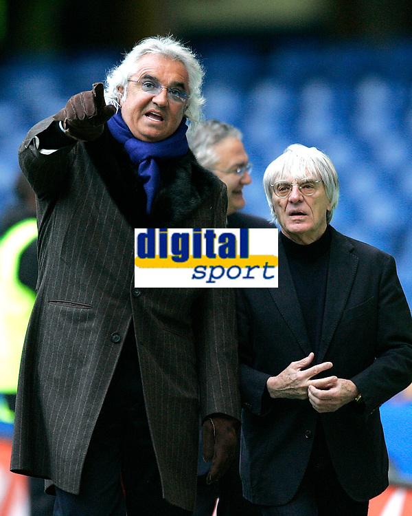 Photo: Tom Dulat.<br /> <br /> Chelsea v Queens Park Rangers. FA Cup Third Round. 05/01/2008. <br /> <br /> Ivestors of Queens Park Rangers Flavio Briatore (L) and Bernie Ecclestone (R).