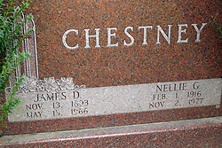 31 August 2017:   Veterans graves in Park Hill Cemetery in eastern McLean County.<br /> <br /> James D Chestney Illinois   Nov 13 1933  May 13 1966