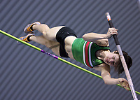 Photo: Rich Eaton.<br /> <br /> Norwich Union European Indoor Trials and UK Championships, Sheffield. 11/02/2007. Kate Dennison clears the bar on her way to winning the womens pole vault