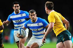 Ramiro Moyano of Argentina - Mandatory byline: Patrick Khachfe/JMP - 07966 386802 - 08/10/2016 - RUGBY UNION - Twickenham Stadium - London, England - Argentina v Australia - The Rugby Championship.