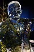 Het IJsbeelden Festival presenteert '200 jaar Koninkrijk der Nederlanden', een vorstelijke geschiedenis in ijs en sneeuw.<br /> <br /> Op de foto: IJssculptuur van prins Claus