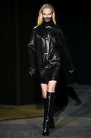 Hanne Gaby Odiele walks down runway for F2012 Alexander Wang's collection in Mercedes Benz fashion week in New York on Feb 12, 2012 NYC