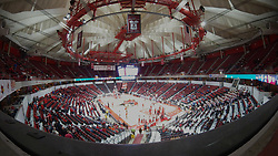 NORMAL, IL - February 08:  Panoramic image from a Samsung 360 during a college basketball game between the ISU Redbirds and the Indiana State Sycamores on February 08 2020 at Redbird Arena in Normal, IL. (Photo by Alan Look)