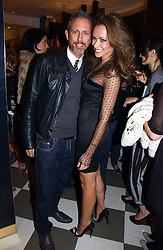 CAMILLA AL FAYED and PATRICK COX at a party to celebrate the opening of PPQ Mayfair at 47 Conduit Street, London W1 on 18th September 2006.<br /><br />NON EXCLUSIVE - WORLD RIGHTS