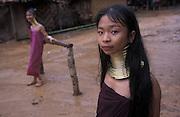 Karen longneck women (Paduang tribe) Refugee Camp, Thailand-Burma Border, Thailand