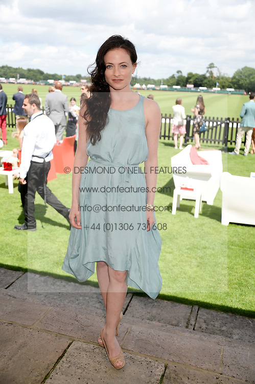 LARA PULVER at the Audi International Polo at Guards Polo Windsor Great Park, Egham, Surrey on 28th July 2013.