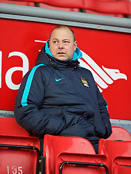 LIVERPOOL, ENGLAND - Sunday, February 7, 2016: Liverpool's former Academy Director Rodolfo Burrell working for Manchester City during the Under-21 FA Premier League match at Anfield. (Pic by David Rawcliffe/Propaganda)