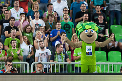 Lipko, official mascot, during friendly match between National teams of Slovenia and France for Eurobasket 2013 on August 31, 2013 in Arena Stozice, Ljubljana, Slovenia. (Photo by Matic Klansek Velej / Sportida.com)