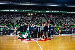 Winning generation of European Cup from year 1994 during ABA basketball league round 9 match between teams KK Cedevita Olimpija and KK Crvena Zvezda MTS in Arena Stozice, 1. December, 2019, Ljubljana, Slovenia. Photo by Grega Valancic / Sportida
