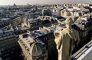 France. Paris. 9th district.  elevated view on Paris from the bell tower  of Sainte Trinite church      / Paris vu depuis l'Eglise de la Sainte Trinite, 75009