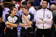 DESCRIZIONE : Campionato 2013/14 Finale Gara 7 Olimpia EA7 Emporio Armani Milano - Montepaschi Mens Sana Siena Scudetto<br /> GIOCATORE : Arbitro<br /> CATEGORIA : Pregame Arbitro<br /> SQUADRA : Arbitro<br /> EVENTO : LegaBasket Serie A Beko Playoff 2013/2014<br /> GARA : Olimpia EA7 Emporio Armani Milano - Montepaschi Mens Sana Siena<br /> DATA : 27/06/2014<br /> SPORT : Pallacanestro <br /> AUTORE : Agenzia Ciamillo-Castoria /GiulioCiamillo<br /> Galleria : LegaBasket Serie A Beko Playoff 2013/2014<br /> FOTONOTIZIA : Campionato 2013/14 Finale GARA 7 Olimpia EA7 Emporio Armani Milano - Montepaschi Mens Sana Siena<br /> Predefinita :