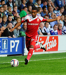 Swindon Town's Nathan Byrne  - Photo mandatory by-line: Seb Daly/JMP - Tel: Mobile: 07966 386802 27/08/2013 - SPORT - FOOTBALL - Loftus Road - London - Queens Park Rangers V Swindon Town -  Capital One Cup - Round 2