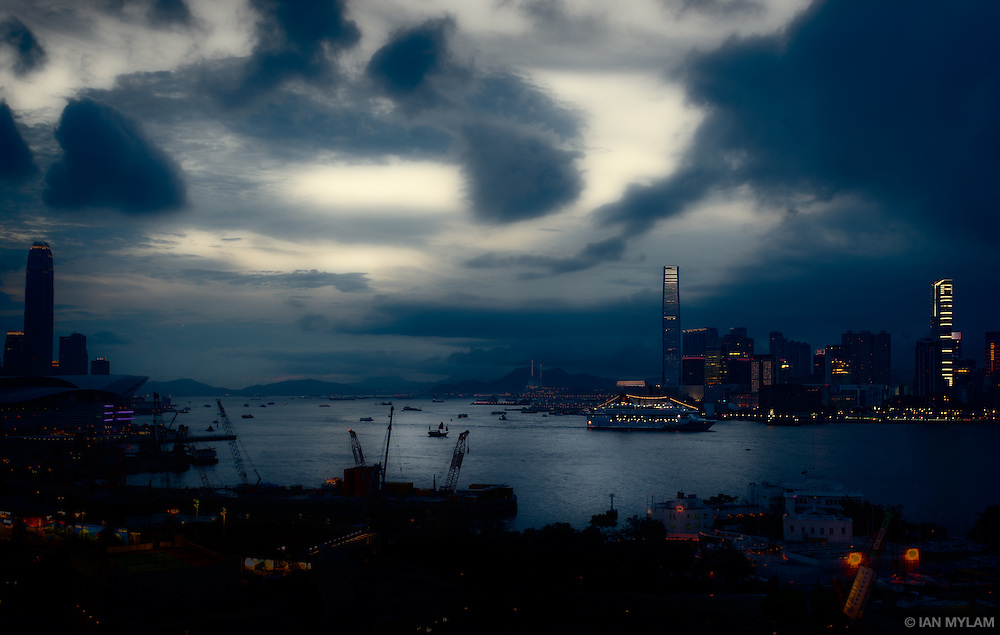 Nightfall over Causeway Bay - Hong Kong, China