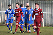 Greenwich celebrate 3-0 during the Southern Counties East match between AFC Croydon Athletic and Greenwich Borough at the Mayfield Stadium, Croydon, United Kingdom on 12 March 2016. Photo by Martin Cole.
