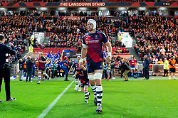 Dave Attwood and the rest of the Bristol Bears team run onto the field - Mandatory byline: Patrick Khachfe/JMP - 07966 386802 - 18/10/2019 - RUGBY UNION - Ashton Gate Stadium - Bristol, England - Bristol Bears v Bath Rugby - Gallagher Premiership