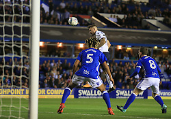 Adam Armstrong of Bolton Wanderers gets a rare header on target for his side - Mandatory by-line: Paul Roberts/JMP - 15/08/2017 - FOOTBALL - St Andrew's Stadium - Birmingham, England - Birmingham City v Bolton Wanderers - Sky Bet Championship