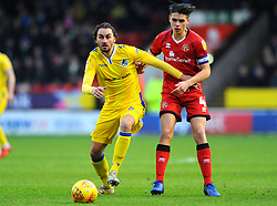 George Dobson of Walsall jostles with Edward Upson of Bristol Rovers- Mandatory by-line: Nizaam Jones/JMP - 26/12/2018 - FOOTBALL - Banks's Stadium - Walsall, England- Walsall v Bristol Rovers - Sky Bet League One