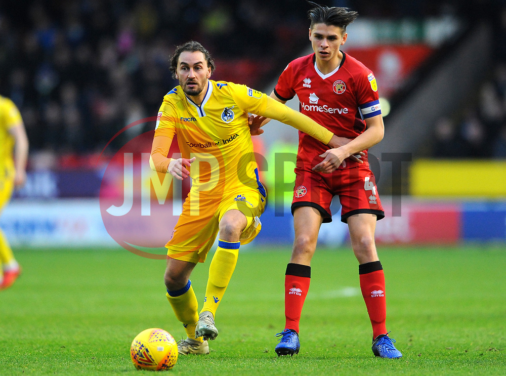 George Dobson of Walsall jostles with Edward Upson of Bristol Rovers- Mandatory by-line: Nizaam Jones/JMP - 26/12/2018 - FOOTBALL - Banks's Stadium - Walsall, England- Walsall v Bristol Rovers - Sky Bet League One