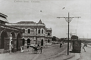 The first Chamber of Commerce building,<br />Chatham Street, Fort. Colombo.<br />1898
