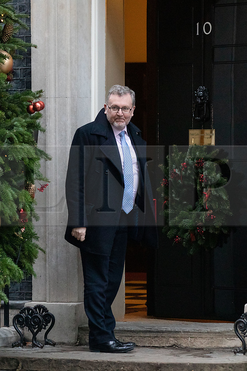 © Licensed to London News Pictures. 19/12/2018. London, UK. Secretary of State for Scotland David Mundell arrives in Downing Street. Photo credit : Tom Nicholson/LNP