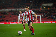 Max Power of Sunderland FC on the attack during the EFL Sky Bet League 1 match between Sunderland and Burton Albion at the Stadium Of Light, Sunderland, England on 26 November 2019.