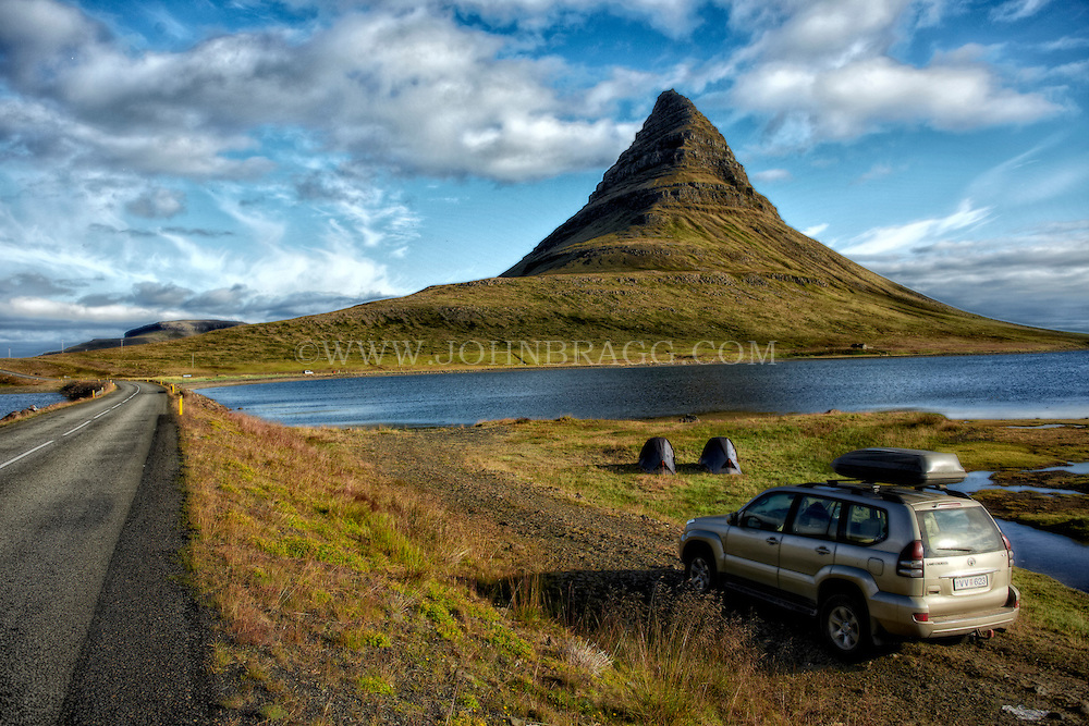 Camping out at Kirkjufell Mountain in Grundarfjordur, Iceland.