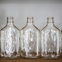 Empty flask bottles at Kings County Distillery in the Brooklyn borough of New York, June 27, 2013. Gary He/DRAMBOX MEDIA LIBRARY