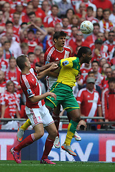 Middlesbrough Jelle Vossen holds of Norwich Camerone Jerome, Middlesbrough v Norwich, Sky Bet Championship, Play Off Final, Wembley Stadium, Monday  25th May 2015