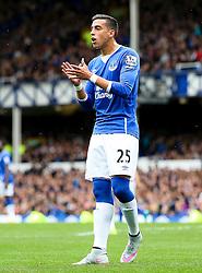 Everton's Ramiro Funes Mori congratulates his team mates  - Mandatory byline: Matt McNulty/JMP - 07966386802 - 12/09/2015 - FOOTBALL - Goodison Park -Everton,England - Everton v Chelsea - Barclays Premier League