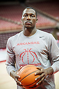 Fayetteville, AR: October 18, 2013<br /> Photography of Alandise Harris of the Arkansas Razorback Basketball team for Sync Magazine<br /> <br /> Photography by Wesley Hitt