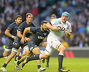 Twickenham, United Kingdom, Ben MORGAN, breaking through and going on the touch down during the  2013 QBE Autumn, Rugby International, England vs Argentina, RFU Stadium Twickenham, on Saturday  09/11/2013 <br /> England. [Mandatory Credit: Peter Spurrier/Intersport<br /> Images]