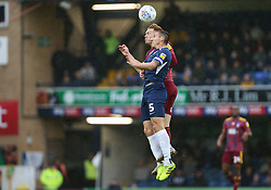 Mark Milligan of Southend United and Jon Nolan of Ipswich Town jump for a header - Mandatory by-line: Arron Gent/JMP - 27/10/2019 - FOOTBALL - Roots Hall - Southend-on-Sea, England - Southend United v Ipswich Town - Sky Bet League One