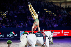 BRÜSEWITZ Viktor (GER), Claus<br /> Leipzig - Partner Pferd 2018   <br /> FEI World Cup Vaulting Einzel Herren 2. Runde<br /> © www.sportfotos-lafrentz.de/Stefan Lafrentz