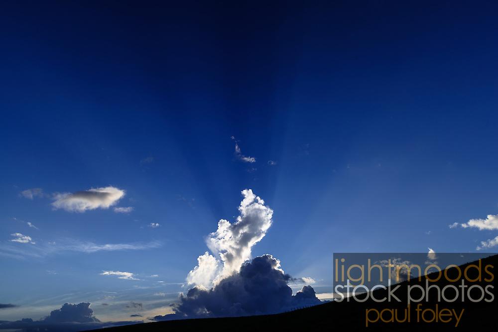 Sunburst behind clouds, East Coast Australia