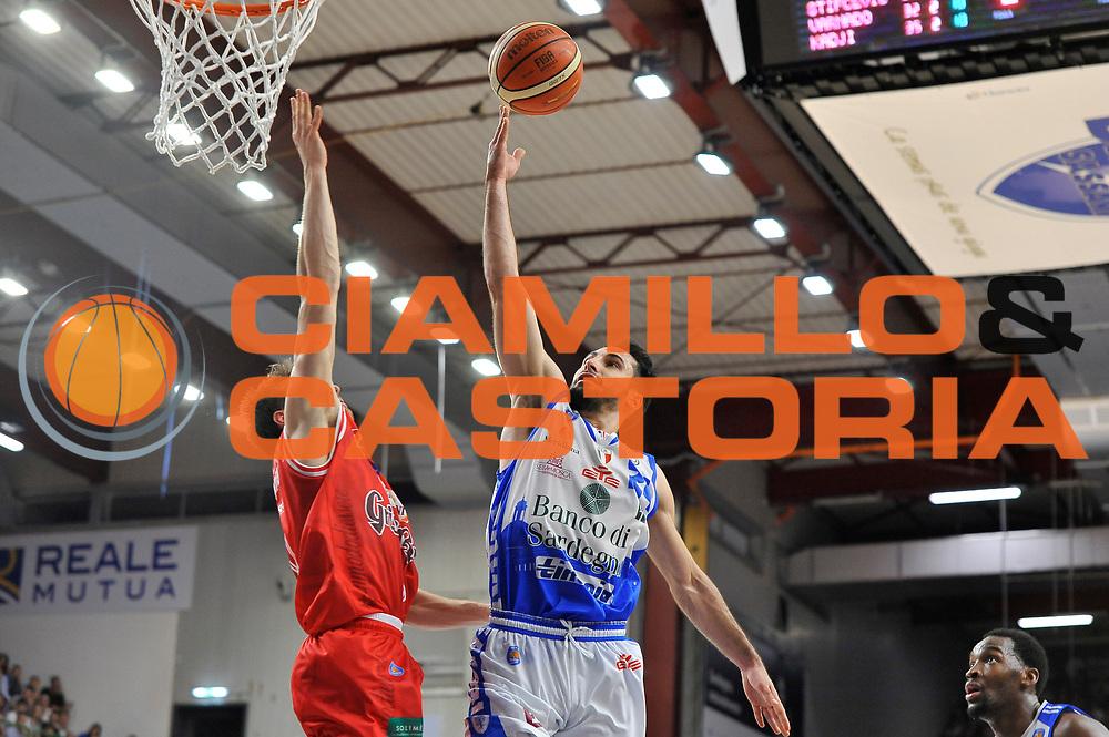 DESCRIZIONE : Beko Legabasket Serie A 2015- 2016 Playoff Quarti di Finale Gara3 Dinamo Banco di Sardegna Sassari - Grissin Bon Reggio Emilia<br /> GIOCATORE : Rok Stipcevic<br /> CATEGORIA : Tiro Penetrazione Sottomano<br /> SQUADRA : Dinamo Banco di Sardegna Sassari<br /> EVENTO : Beko Legabasket Serie A 2015-2016 Playoff<br /> GARA : Quarti di Finale Gara3 Dinamo Banco di Sardegna Sassari - Grissin Bon Reggio Emilia<br /> DATA : 11/05/2016<br /> SPORT : Pallacanestro <br /> AUTORE : Agenzia Ciamillo-Castoria/C.Atzori