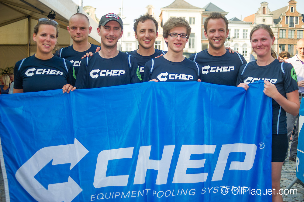 Beachvolleybal Mechelen 2012. Team Chep groep.