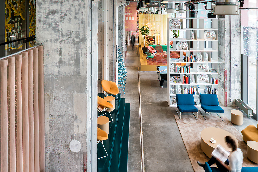 Sal Marston Photography - The Student Hotel, Maastricht. Interior Design by The Invisible Party, Amsterdam.