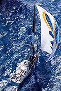 Danneskjold sailing in the St. Barth's Bucket Regatta, race three.