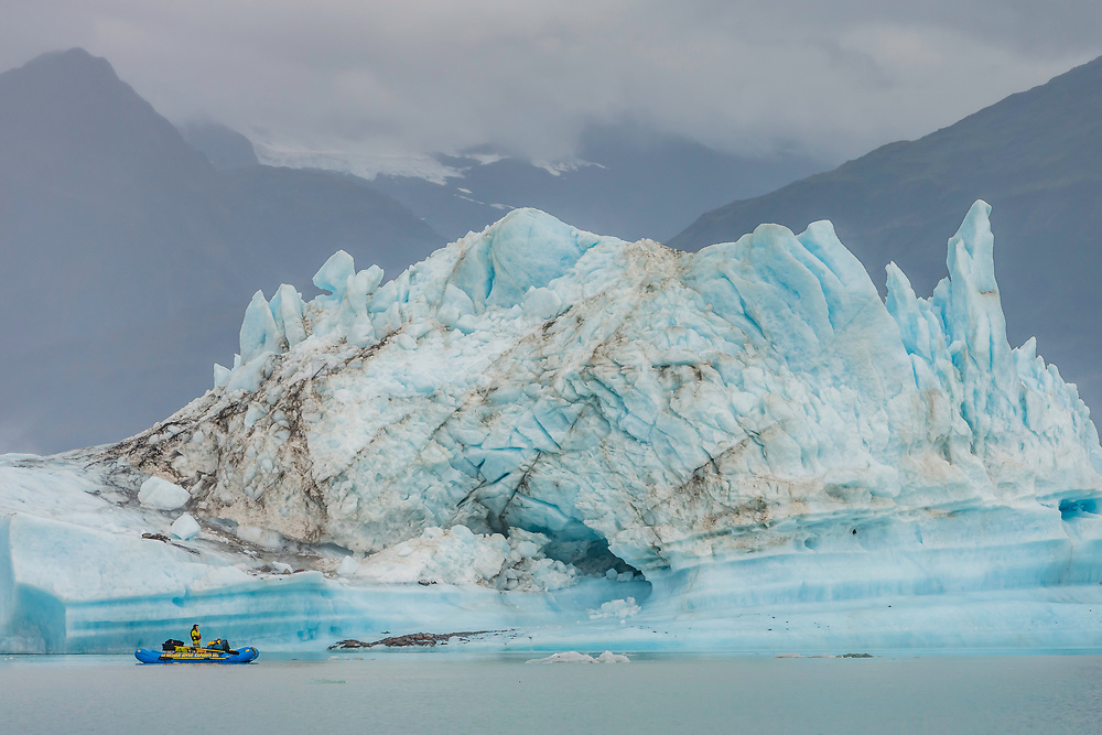 Guide Neil Hartling is pictured in Alsek Lake in the Tatshenshini-Alsek Provincial Park in British Columbia, Canada on September 8, 2016.