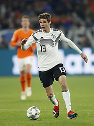 Thomas Muller of Germany during the UEFA Nations League A group 1 qualifying match between Germany and The Netherlands at the Veltins Arena on November 19, 2018 in Gelsenkirchen, Germany