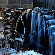 A mill inside of Smoky Mountain National Park freezes over because of cold winter temperatures.  photo by David Peterson