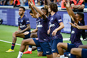 PSG Neymar warms up with teammates prior to the French championship L1 football match between Paris Saint-Germain (PSG) and Caen on August 12th, 2018 at Parc des Princes, Paris, France - Photo Geoffroy Van der Hasselt / ProSportsImages / DPPI