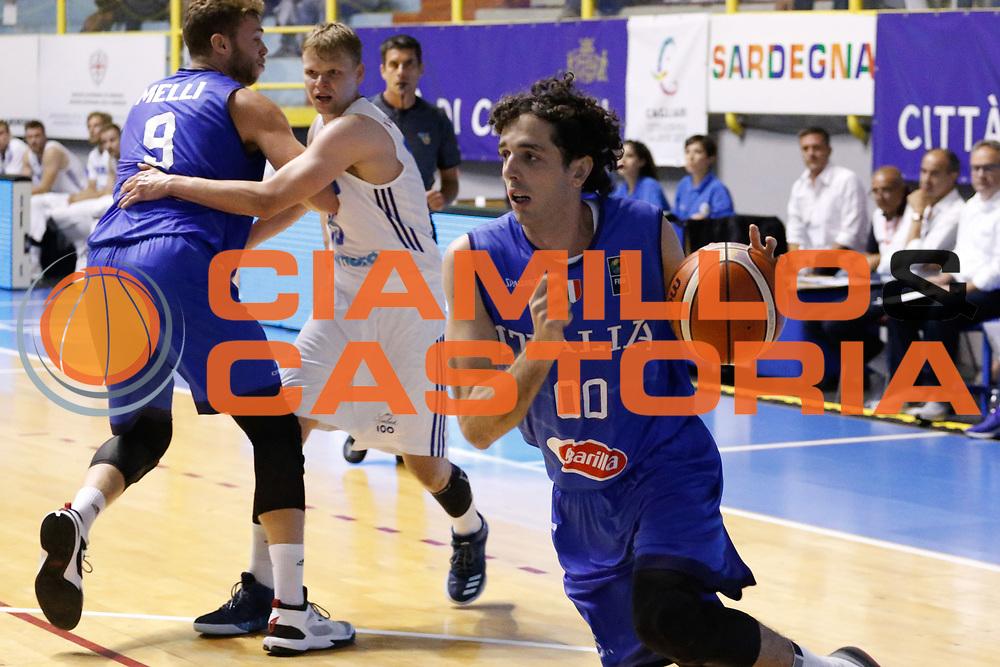 Amedeo Della Valle<br /> Italia - Finlandia<br /> Nazionale Italiana Maschile<br /> Torneo Sardegna a Canestro 2017<br /> Cagliari 11/08/2017<br /> Foto Ciamillo-Castoria