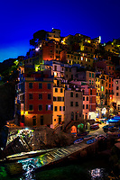 &quot;Twilight falls on the village of Riomaggiore&quot;...<br />